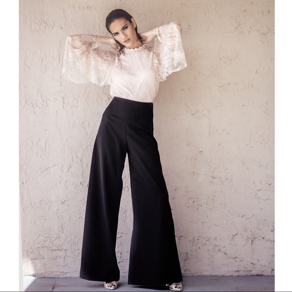 f94733c5d89b Style Link Miami Pants | Black High Waist Wide Leg | Poshmark
